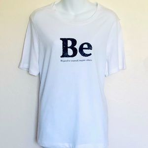 """H&M """"BE Be Good To Yourself, Inspire Others Tee M"""